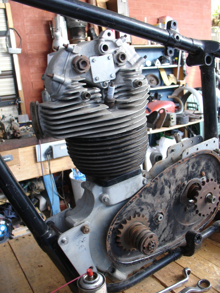 KSS Bare engine from the drive-side
