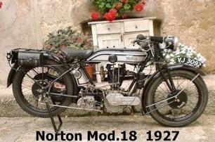 3- Norton Model 18, 1927